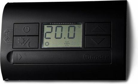 Finder Termostat elektroniczny czarny, wyświetlacz LCD dzień/noc, lato/zima 1P 5