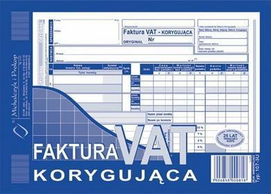 MICHALCZYK&Prokop Faktura VAT korygująca A5
