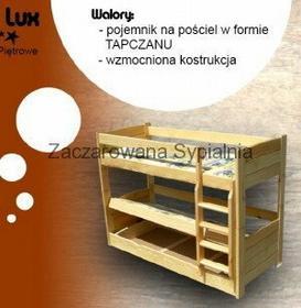 Zaczarowana Sypialnia Łóżko piętrowe TAPCZAN LUX sosna pod materace 80x200 (bez