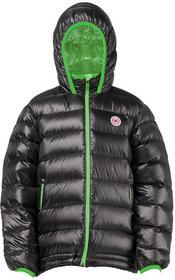 Kurtka puchowa dziecięca Pajak CASPER KID kolor czarny/zielony 134 cm