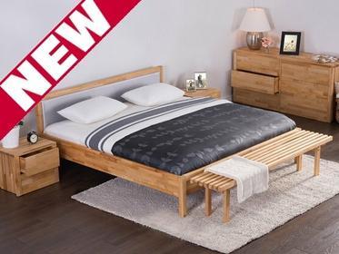Beliani Podwójne łóżko drewniane ze stelazem 180x200 cm, szare CARRIS szary