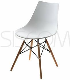 Furnide Krzesło plastikowe Mindy białe - biały
