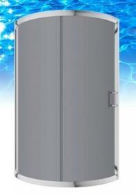Omnires Helalth 90x90 prawa profil chrom błyszczący szkło grafitowe JK2209 P LC2 GR