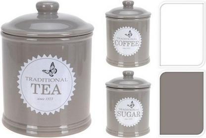 Excellent Houseware EH Pojemnik TRADITIONAL na kawę, herbatę, cukier - 3 sztuki