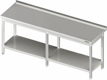 Stalgast Stół przyścienny z półką 2500x600x850 mm 980056250