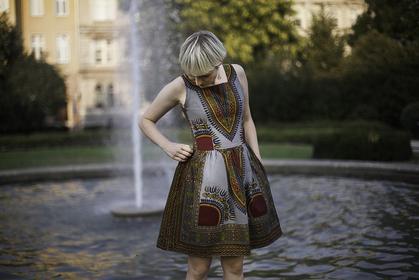 Dawanda Sukienka Addis Abeba - Srebrna 67353395