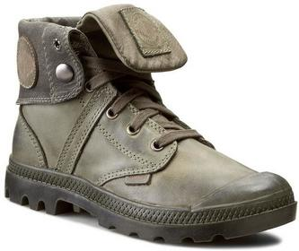 Palladium Trapery - Pallabrouse Baggy L2 93080302 Olive Drab/czarny skóra natural