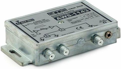 Wzmacniacz antenowy wewnętrzny z zasilaczem AWS-1143