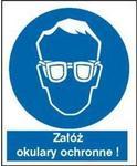 Znak 16 Nakaz stosowania ochrony wzroku FB 110x140