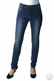 BS Spodnie jeansy rurki granatowy z wyższym stanem PUSH-UP (M6162)