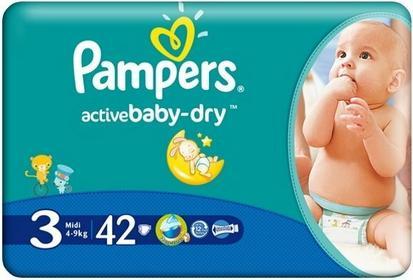 Pampers Active Baby-Dry 3 Midi 42 szt.