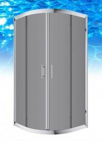 Omnires Health 90x90 profil chrom błyszczący szkło grafitowe JK2809 LC2 GR