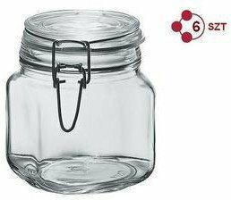 Borgonovo PRIMIZIE 750 ml Komplet 6 Słoików hermetycznych typu weck