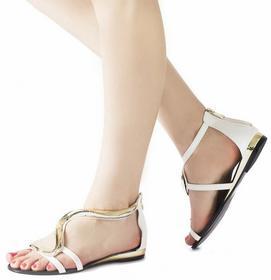 Białe sandały Kamila biały