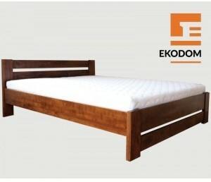 Ekodom Łóżko Drewniane LULEA, Kolor wybarwienia - Olcha biała, Rozmiar - 120x200