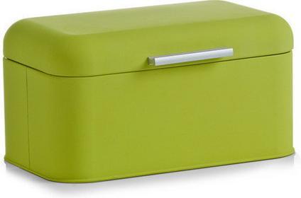 Zeller Metalowy chlebak RUBBER, Chlebak, 31x21x15 cm - zielony 2729