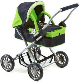 Bayer Chic Wózek dla lalek SMARTY czarno/zielony