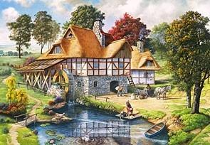 Castorland Puzzle 2000 Water Mill Cottage CASTOR