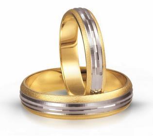 Złote obrączki ślubne AMARE FOREVER 113-4