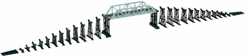 Mehano Most kolejowy z zestwem 28 elementów skala H0
