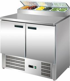 Stalgast Stół chłodniczy 2 drzwiowy Eco z nadstawą sałatkową - 842328