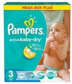 Pampers Active Baby-Dry 3 Midi 174 szt.