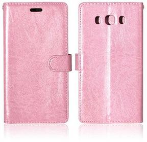 Samsung Voguecase für Galaxy J3 Pro hülle,(Drei feste Karte/Pink) Kunstleder Tasche PU Schutzhülle Tasche Leder Brieftasche Hülle Case Cover + Gratis Universal Eingabestift