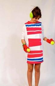 DaWanda.pl sukienka recyclingwear różowyOWA ZEBRA 77807039 female