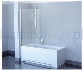Ravak Pivot PVS1-80 ścianka wannowa stała polerowane aluminium + transparent 798