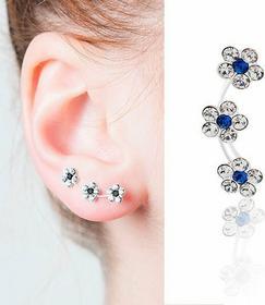 AnKa Biżuteria HIT! Najmodniejsze potrójne kolczyki srebrne przylegające do ucha