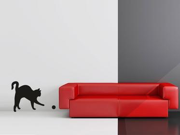 Naklej-to.pl Kot z piłeczką naklejka kot05