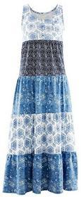 Bonprix Sukienka indygo z nadrukiem 939412