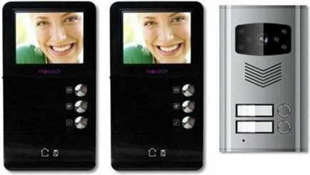 MoveTo Wideodomofon dwurodzinny kolorowy wyświetlacz 3.5 2V-035