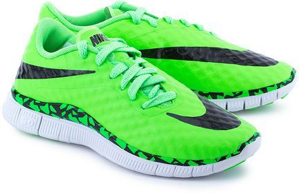 Nike Free Hypervenom - Zielone Nylonowe Buty sportowe Dziecięce - 705390 300