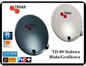 Triax ANTENA SATELITARNA TD 80cm BIAŁA / GRAFITOWA