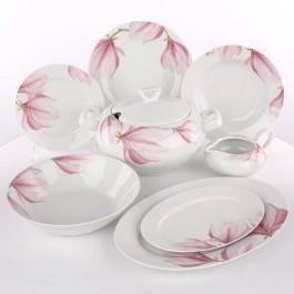 Ćmielów Zestaw obiadowy dla 12 osób porcelana Yvonne Magnolia G143 | Darmowa dos