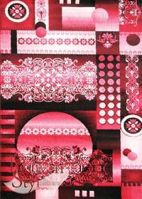 DywanStyl.pl Dywan Obrazy Acapulco czerwony 120x170 prostokąt