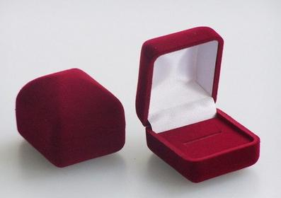 AnKa Biżuteria Eleganckie pudełko welurowe do pieścionka