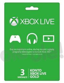 Microsoft Doładowanie Xbox Live Gold (3 m-ce karta zdrapka