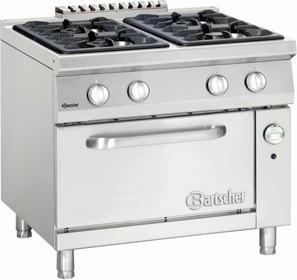 Bartscher 4-palnikowa Kuchnia gazowa z piekarnikiem gazowym GN 2/1 BT2952141