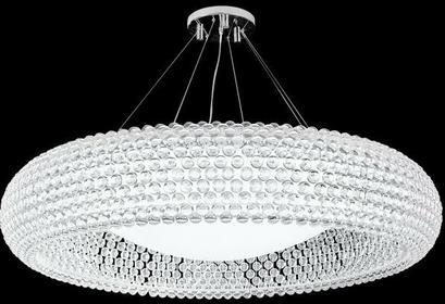 Azzardo Zwis nowoczesna LAMPA wisząca ACRYLIO 50 V 026-500 kulki Chrom biały przezroczysty