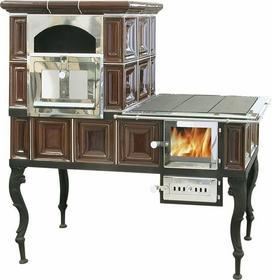 ABX 494 49435466 Piec kuchenny na węgiel i drewno 6 kW, Duży Piec kaflowy (l