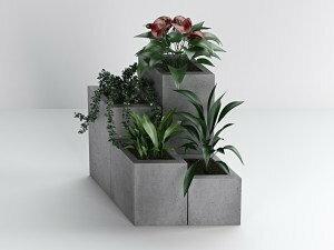 Donica betonowa - Bettoni - Diamond 40 - szara Bettoni_diamond40_szara