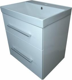 KabinyUmywalki szafka z umywalkąĄ CERAMICZNĄ FARO 60 BIAŁA PODWIESZANA