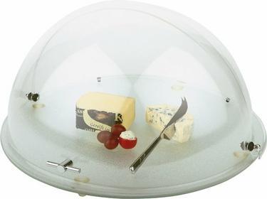 Taca szklana z pokrywą roll-top O 480x260 mm   APS, 00980