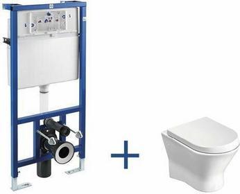 Roca Nexo - Zestaw podtynkowy (miska wc podwieszana + stelaż podtynkowy Do kompaktu WC 3/6 l (zabudowa lekka) z zestawem montażowym oraz kolankiem odpływowym 90/110 mm) A89009000N
