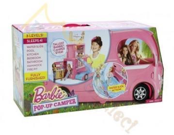 Barbie MATTEL - - SUPER ROZKŁADANY KAMPER - CJT42
