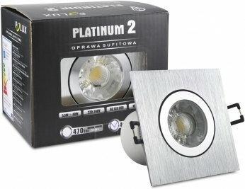 Polux Oczko halogenowe STAR 5,5W SAMSUNG LED COB 230V Srebrny szczotkowany, ciep