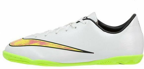 Nike Performance MERCURIAL VICTORY V IC Halówki white/volt/hyper pink/black 6516