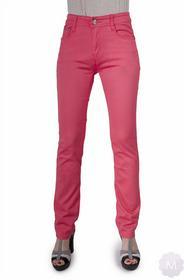 BBS Spodnie jeasnowe łososiowe z prostą nogawką z wyższym stanem